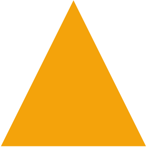 Yellow triangle-shaped rubber floor tile