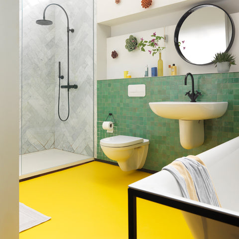 Citron Yellow Vinyl Flooring