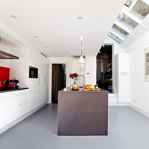 A lovely light grey vinyl floor