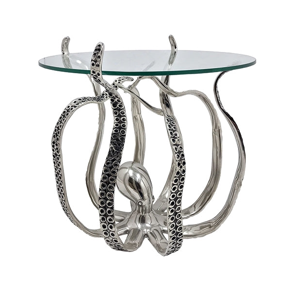 Octopus Side Table With Glass Top Large