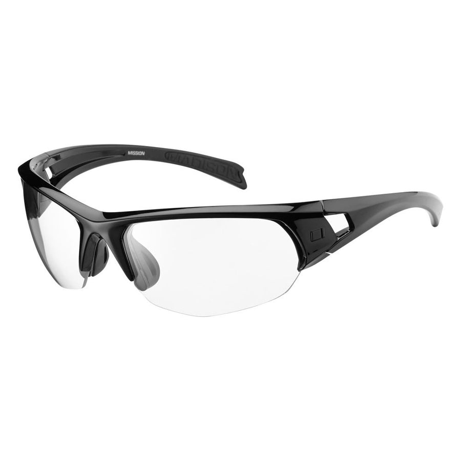 Madison - Mission glasses - gloss black frame, clear lens