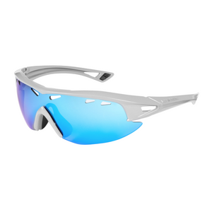 Madison - Recon glasses - gloss cloud grey frame, blue mirror lens