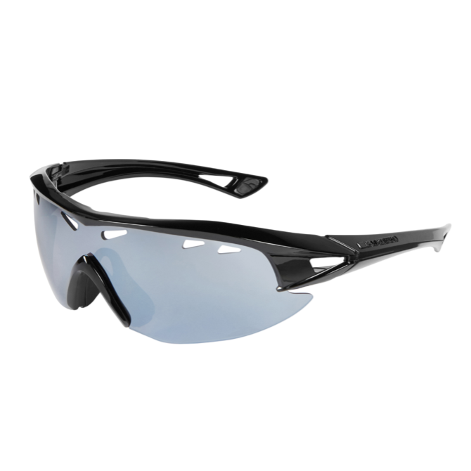 Madison - Recon glasses - gloss black frame, silver mirror lens