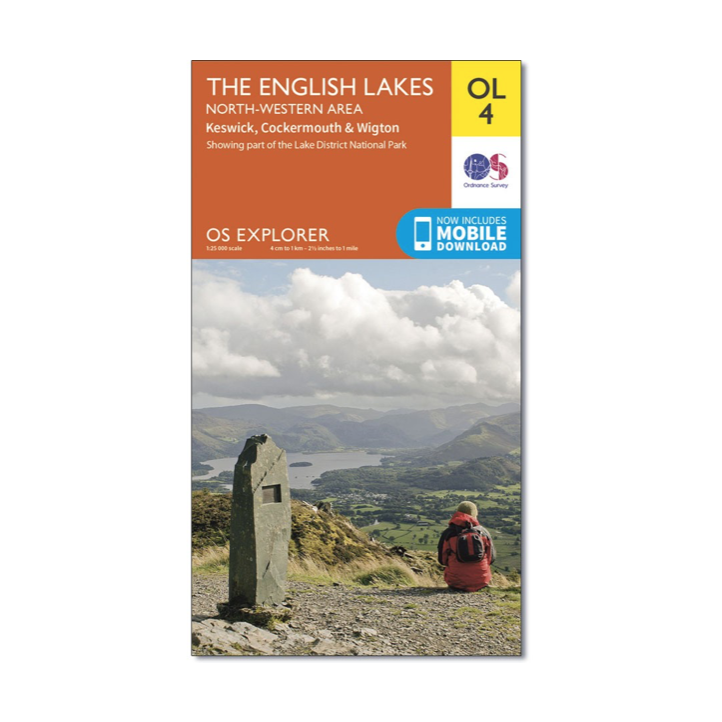 Ordnance Survey - OS Explorer OL4 The English Lakes North Western - Active