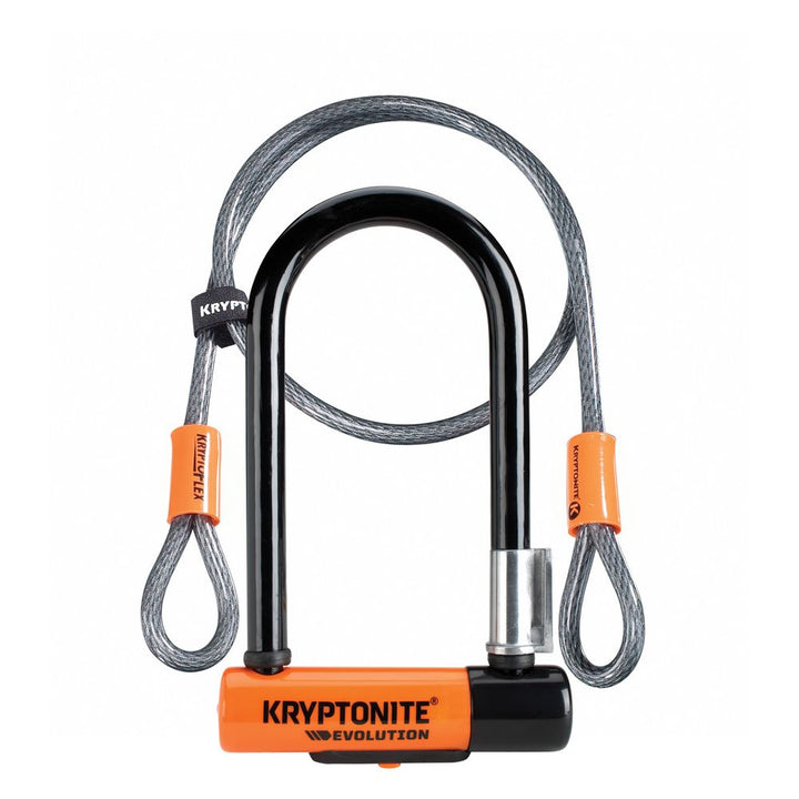 Kryptonite - Evolution Mini 7 Lock With 4 Foot Cable (Sold Secure Gold)