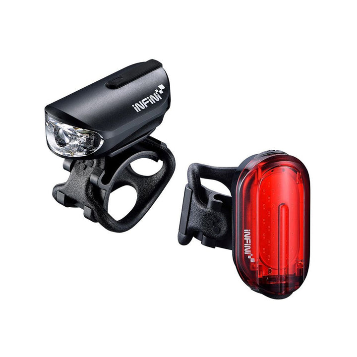 Infini - Olley Rechargeable Micro USB Front and Rear Lightset