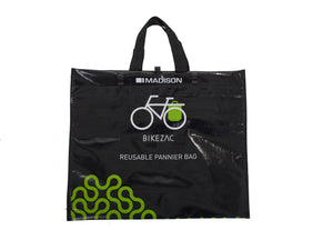 "Bikezac - The rack mounted ""bag for life"""