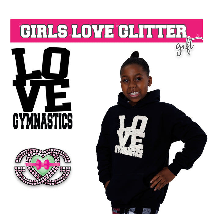 Gymnastics Hooded Fleece LOVE Gymnastics