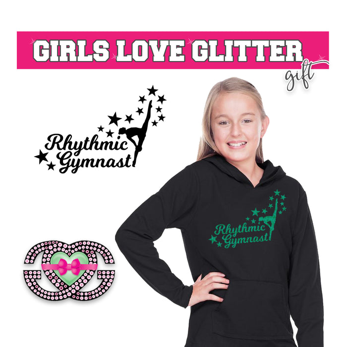 Rhythmic Gymnastics Hooded Fleece Stars