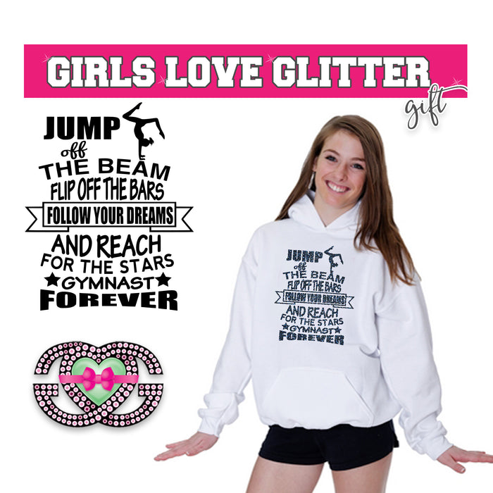 Gymnastics Hooded Fleece Follow Your Dreams