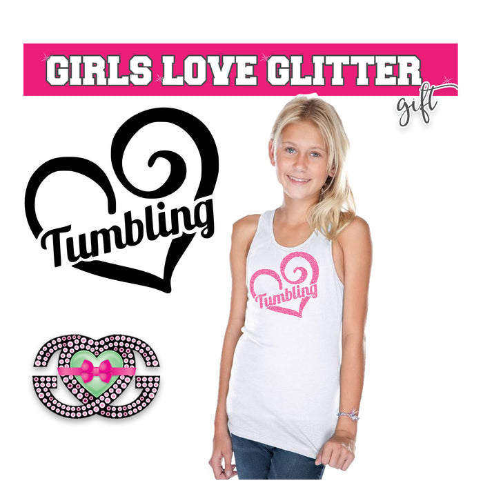 Gymnast Tank Tumbling Heart