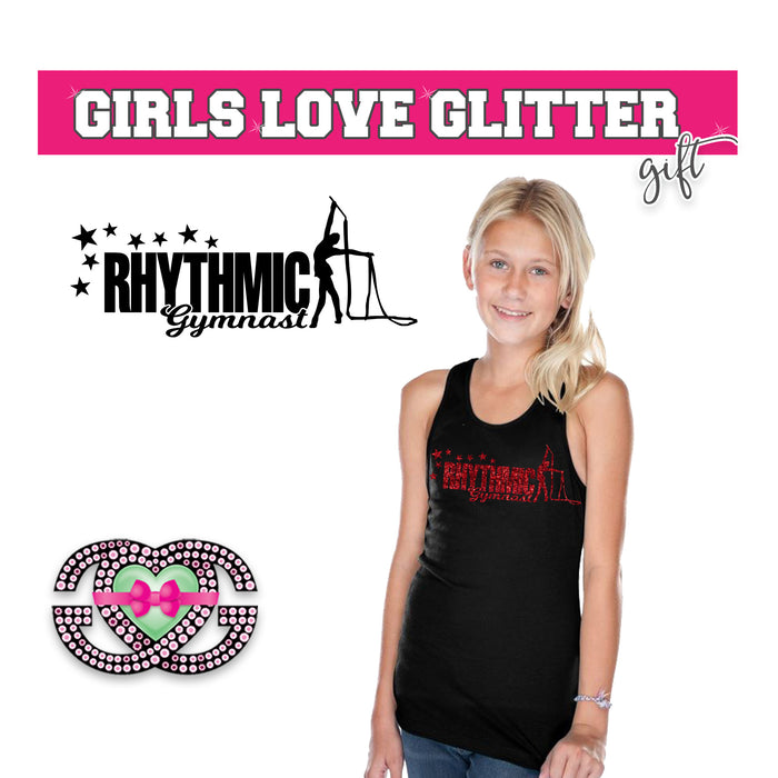 Rhythmic Gymnastics Tank Stars and Ribbon