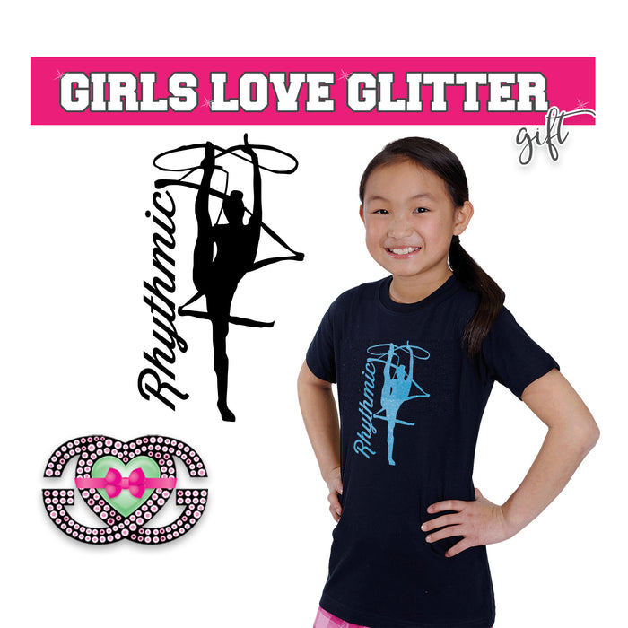 Rhythmic Gymnastics Tee Shirt Ribbon Kick