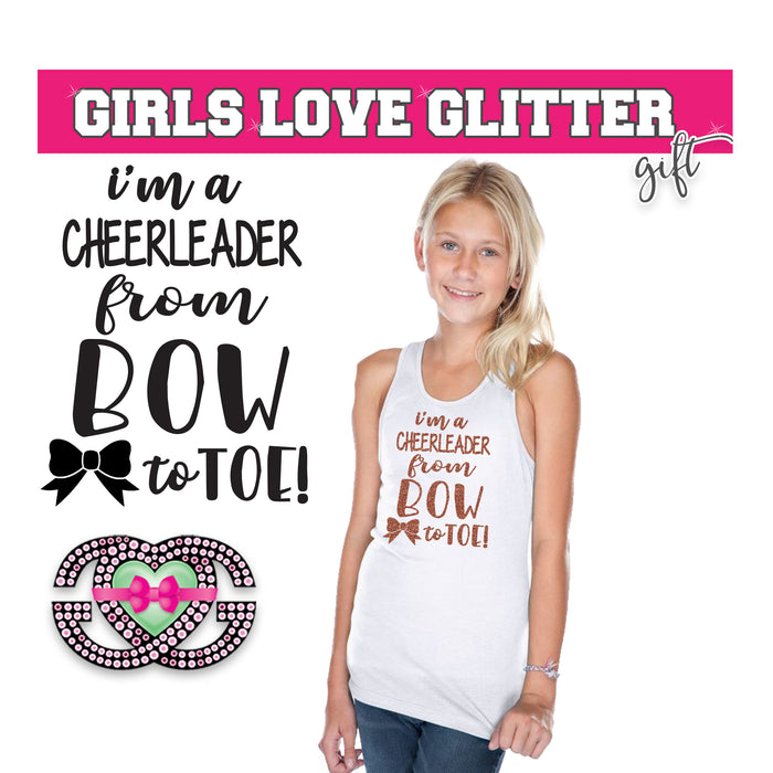 Cheer Tank I'm a Cheerleader from Bow  to Toe