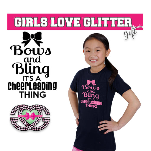 Cheer Tee Bows and Bling It's a Cheerleading Thing