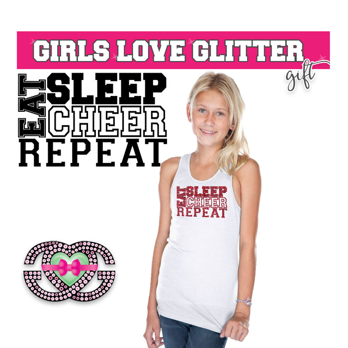 Cheer Tank Eat Sleep Cheer Repeat