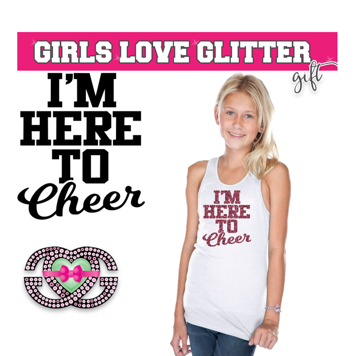 Cheer Tank I am here to Cheer