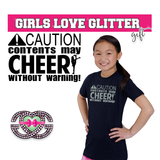 Copy of Cheer Tee Caution.  Contents May Cheer Without Warning