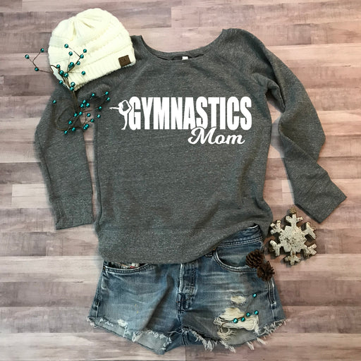 Gymnastics Mom Wide Neck Fleece