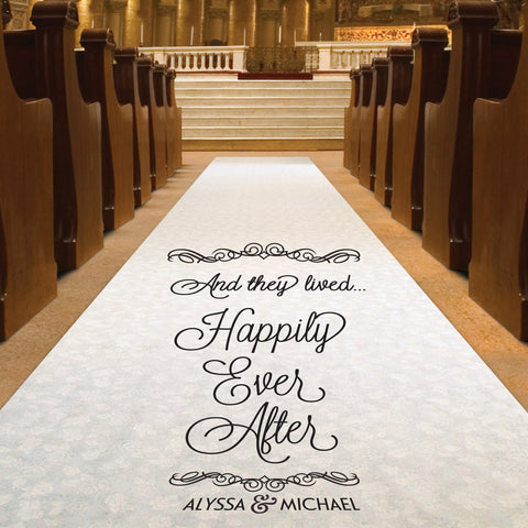 Wedding Aisle Runner - And They Lived Happily Ever After
