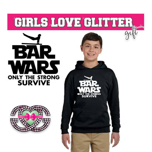 Boy's Hooded Fleece Bar Wars