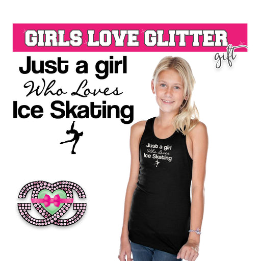 Figure Skating Tank Just a Girl Who Loves Ice Skating