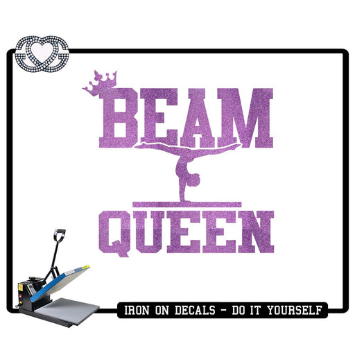 Gymnastics Iron On Decal Beam Queen