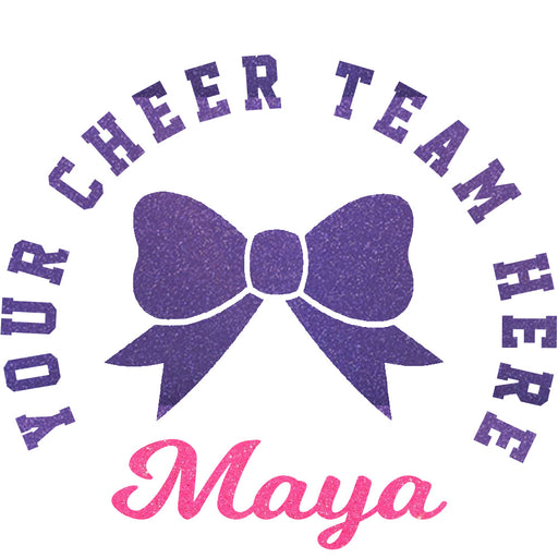 Cheer Custom Car Cling Cheer Bow