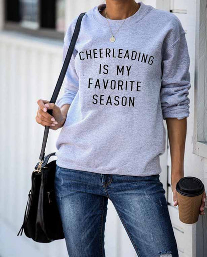Favorite Season CHEER Unisex French Terry Crew