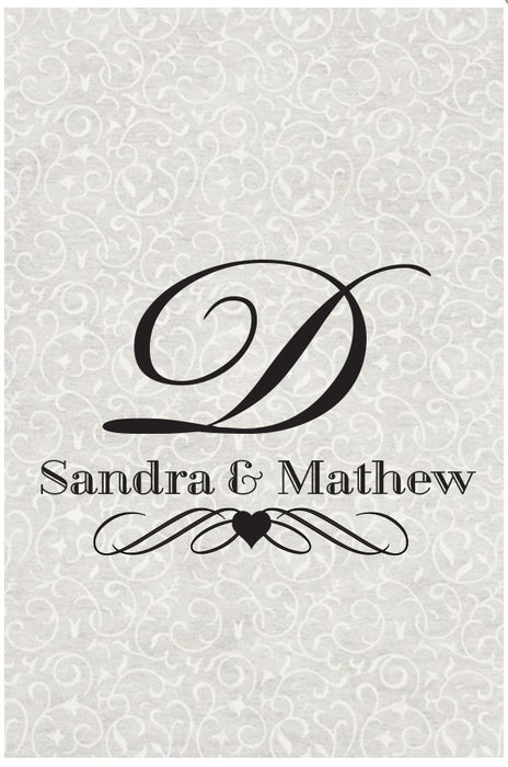 Wedding Aisle Runner - Monogram Initial With Names