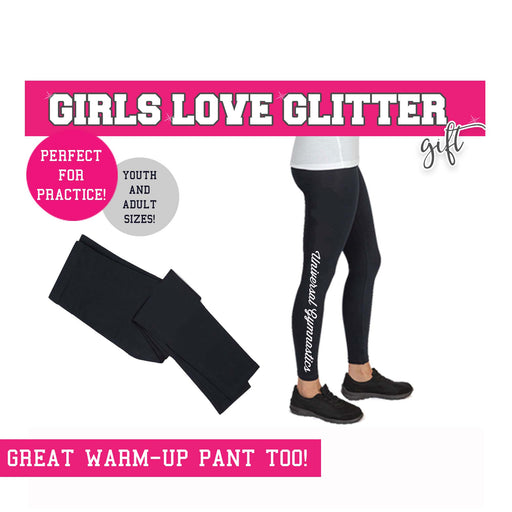 Gymnast Legging Ankle TEAM NAME