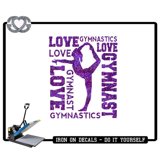 Gymnastics Iron On Decal Gymnast Word Cloud