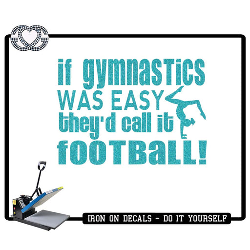 Gymnastics Iron On Decal Gymnastics Football