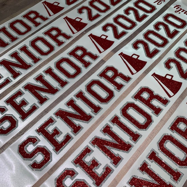 Senior Sash Cheer With Outline