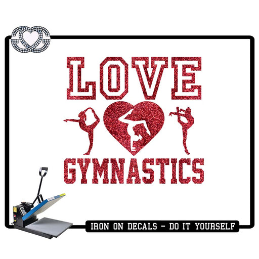 Gymnastics Iron On Decal Love Gymnastics Figures