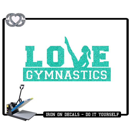 Gymnastics Iron On Decal Love Gymnastics V Sit
