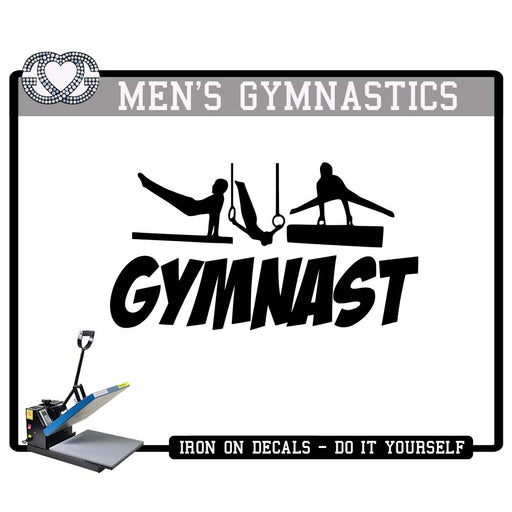 Men's Gymnastics Iron On Decal Gymnast Figures