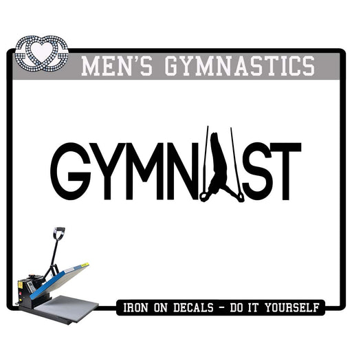 Men's Gymnastics Iron On Decal GYMNAST