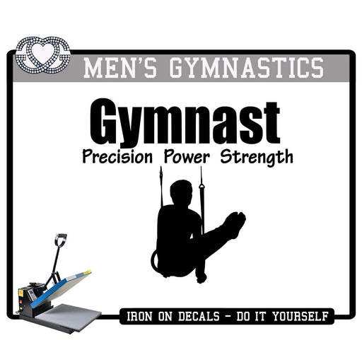 Men's Gymnastics Iron On Decal Precision