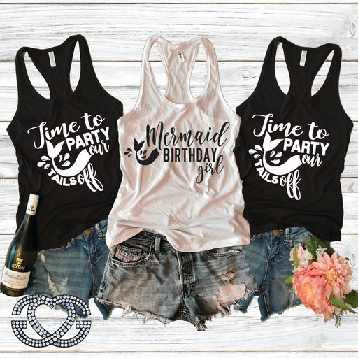 Mermaid Party Birthday Tank