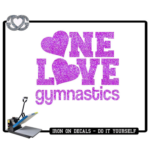 Gymnastics Iron On Decal One Love Gymnastics