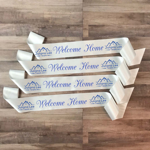WELCOME HOME Real Estate Ribbon Style 1