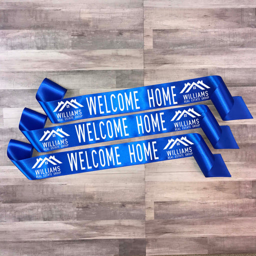 WELCOME HOME Real Estate Ribbon Style 2