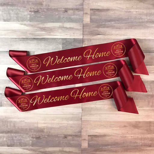 WELCOME HOME Real Estate Ribbon Style 3