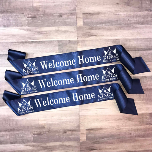 WELCOME HOME Real Estate Ribbon Style 5