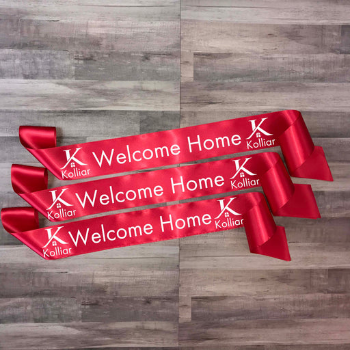 WELCOME HOME Real Estate Ribbon Style 6