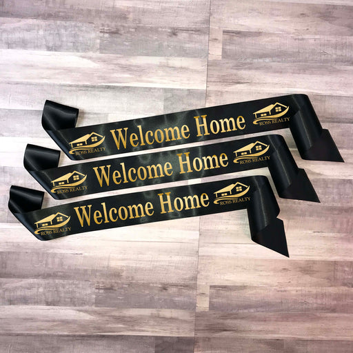 WELCOME HOME Real Estate Ribbon Style 7