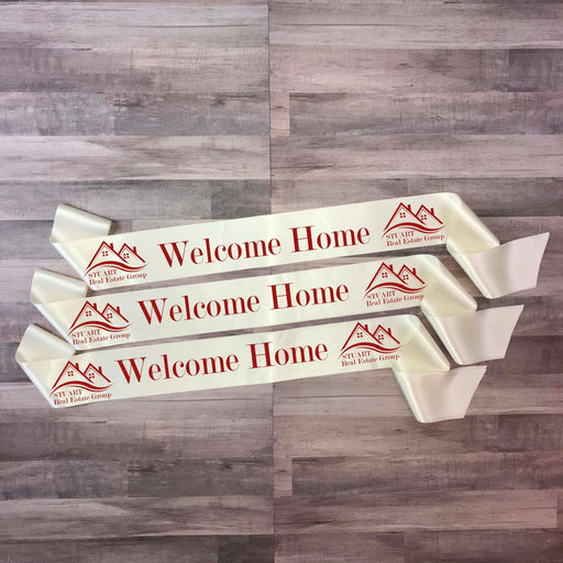 WELCOME HOME Real Estate Ribbon Style 8