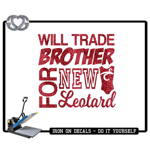 Gymnastics Iron On Decal Trade Brother for Leo