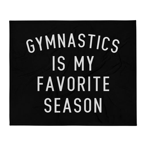 Favorite Season GYMNASTICS Throw Blanket
